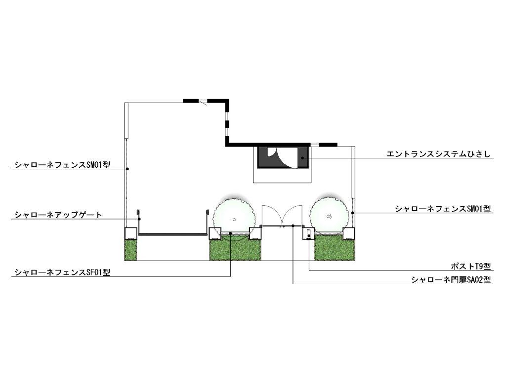 スウィートエレガント クローズド外構03