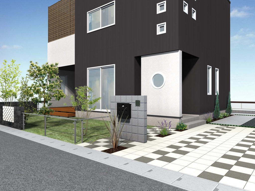 """<span style=""""font-size:15px!important;letter-spacing:0.1em"""">シンプルモダンガーデン<span>"""